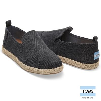 TOMS 細紡草編底懶人鞋-女款
