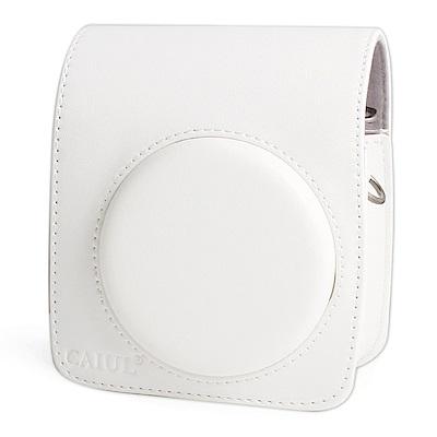 For FUJIFILM mini 70 拍立得專用皮質相機包-白色
