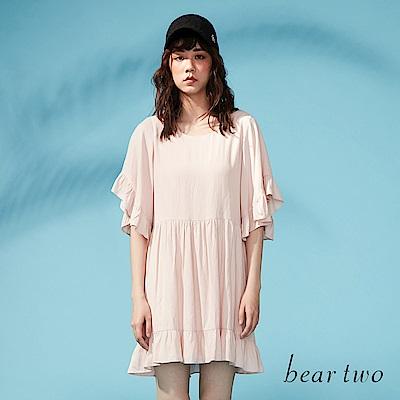 beartwo 傘型袖身寬版造型洋裝(二色)