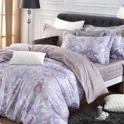 HOYACASA摩卡假日 雙人四件式300織精梳長絨棉兩用被床包組