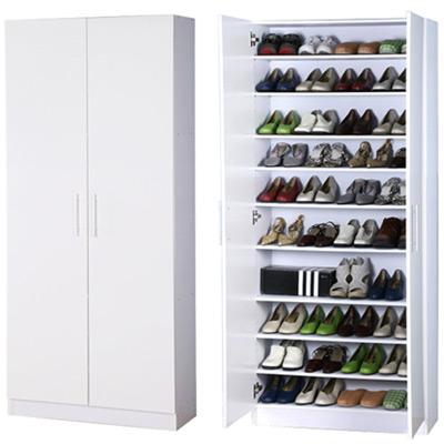 威尼斯鏡面加寬型雙門高鞋櫃-寬80公分(2色)