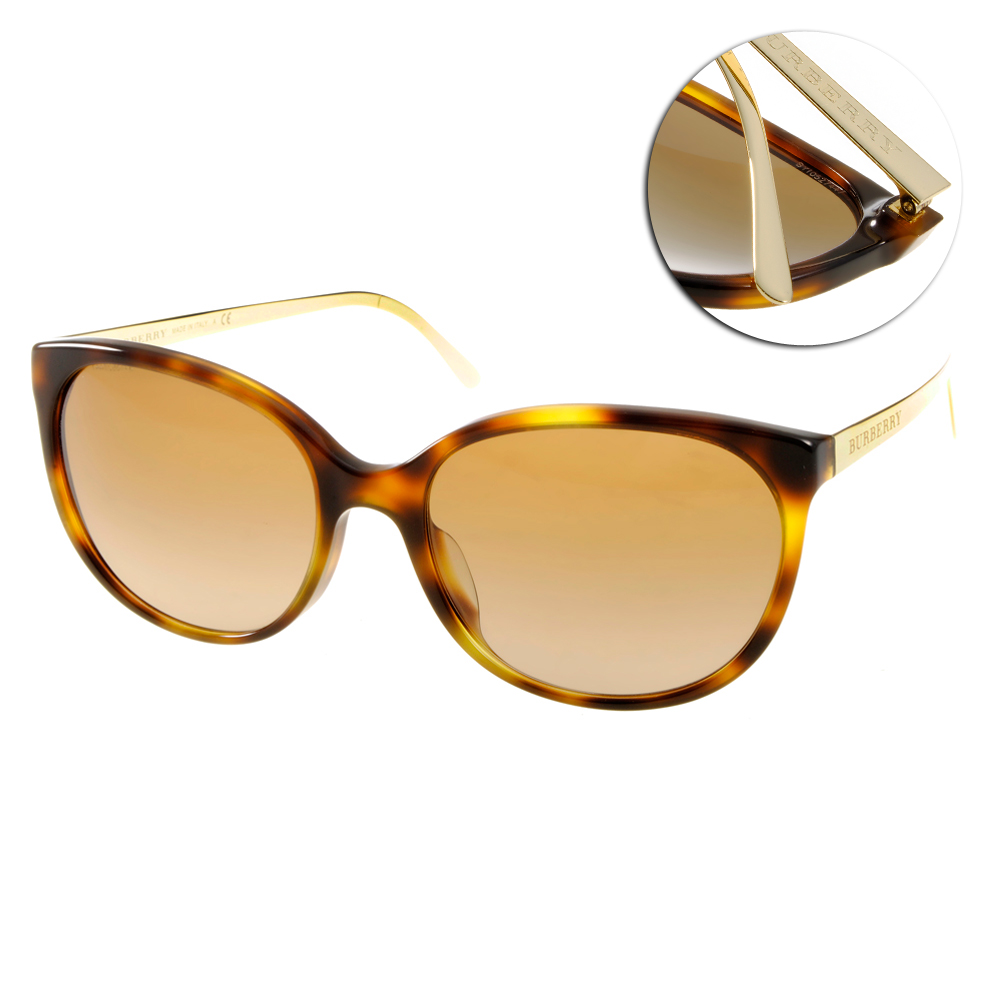 BURBERRY太陽眼鏡 經典款/琥珀金#BU4146A 331613