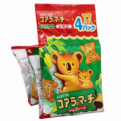 Lotte樂天-吊掛式小熊餅-68g-x2入