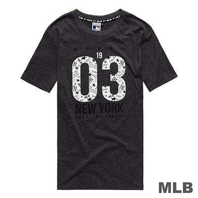 MLB-紐約洋基隊星星俏皮風印花短T-深麻灰 (男)