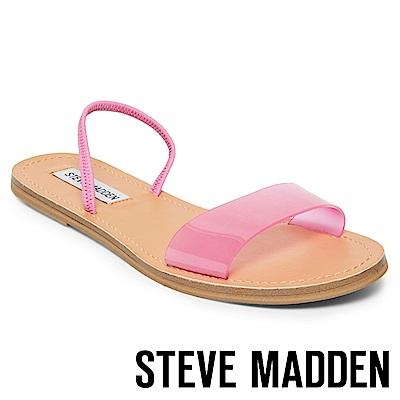 STEVE MADDEN-DASHA-一字果凍平底涼鞋-桃色