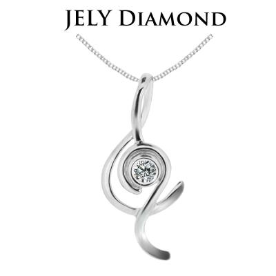JELY 蕭邦最愛 約3分天然真鑽項鍊