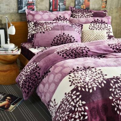 Ania Casa 超保暖法蘭絨-加大床包被套四件組-法國秋漾