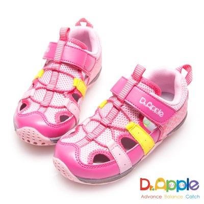Dr. Apple 機能童鞋 活力青春印花超透氣涼童鞋-粉