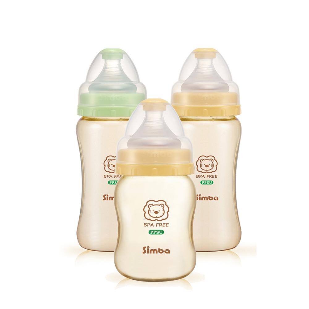 小獅王辛巴 PPSU健康寬口奶瓶經濟組(2中1小)
