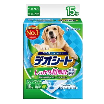 日本Unicharm消臭大師 超吸收狗尿墊 4L號 15片裝 x 1包
