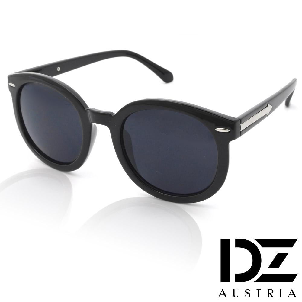 DZ 箭矢橫橢釘 抗UV太陽眼鏡造型墨鏡(亮黑系)