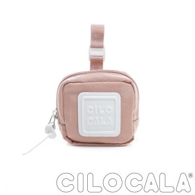 CILOCALA 亮彩尼龍防潑水可扣式零錢包 粉色