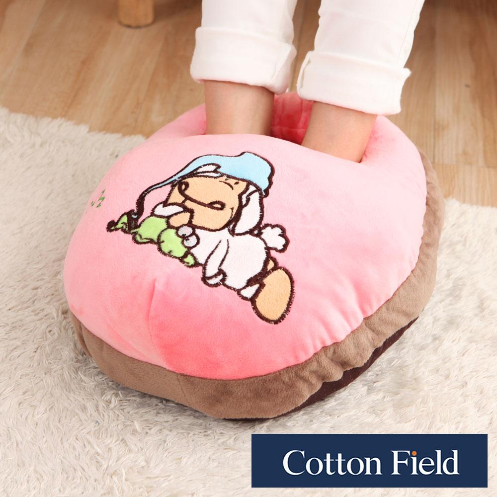 棉花田 小狗 超柔貼布刺繡暖腳枕