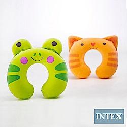 INTEX 兒童充氣護頸枕-動物造型隨機出貨(2入組) (68678)