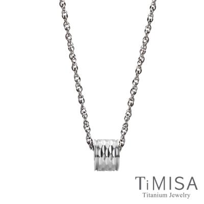 TiMISA 轉動閃耀(S)純鈦項鍊(SSB)
