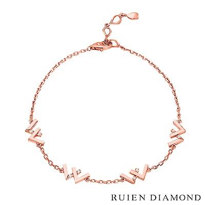 RUIEN DIAMOND 韓國輕珠寶 飾品 配件14K玫瑰金 手鍊 LB172