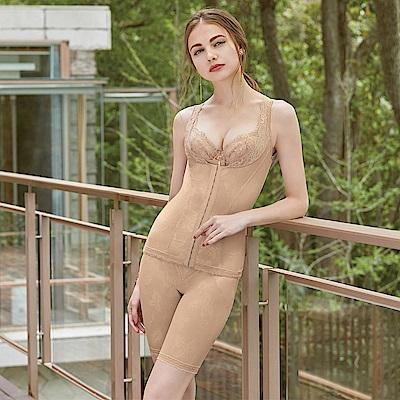 曼黛瑪璉 魔幻美型 重機能-高腰長管束褲(深遂膚)