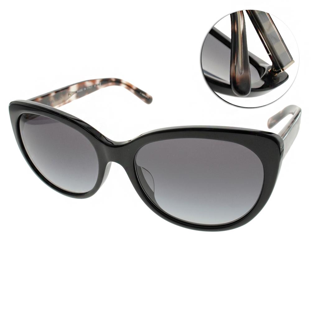 BURBERRY太陽眼鏡 歐美貓眼款/黑#BU4224F 30018G