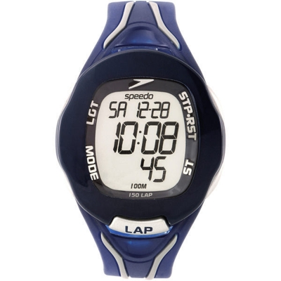 Speedo 時空跳躍電子腕錶-藍/40mm
