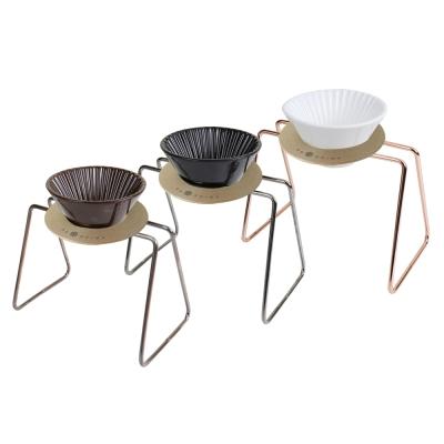 FUSHIMA富島 風雅陶瓷濾杯+木片+鐵架典雅組(3色可選)