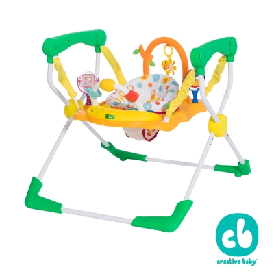 Creative Baby快樂樂園第二代易收納兒童彈跳椅