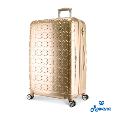 Rowana-繽紛幸運草可加大防爆拉鍊行李箱-28