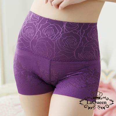 塑褲  舒適高腰蠶絲修飾褲-深紫 La Queen