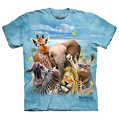 摩達客 美國進口The Mountain 非洲草原動物哦耶 純棉環保短袖T恤