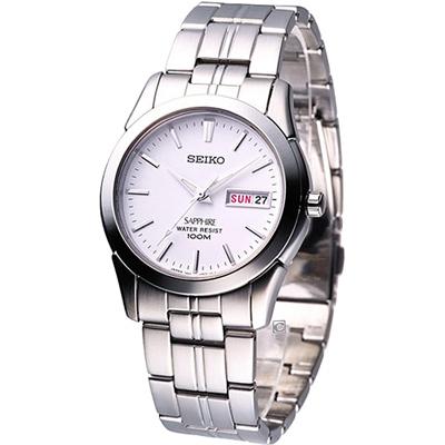 SEIKO 精工錶 經典紳士腕錶(7N43-0AR0S)白/37mm