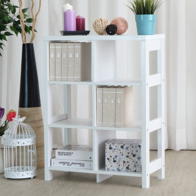 EASY HOME 三層六格隔間展示收納櫃(60x29.6x80cm)-DIY