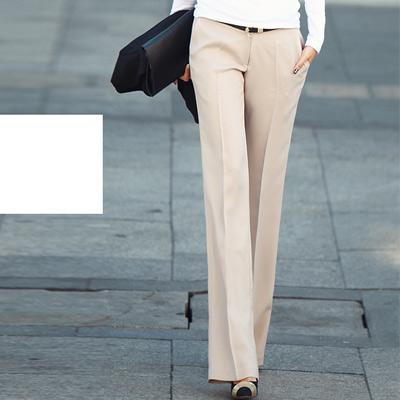 素面OL修身西裝褲共三色-N.C21