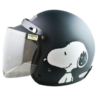史奴比SNOOPY4/3罩安全帽消光黑( 57~60cm)(含贈送的長鏡片)