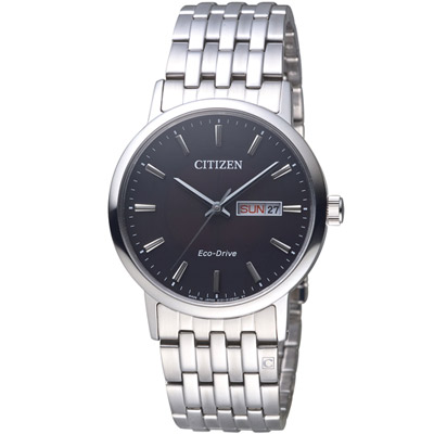 CITIZEN 知性美學時尚腕錶(BM9010-59E)-黑/37mm