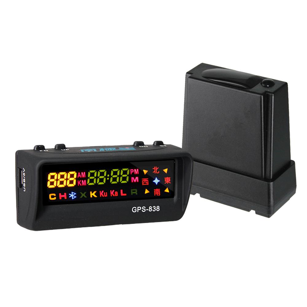 南極星 GPS-838 GPS衛星定位測速警示器+分離式室外全頻雷達機