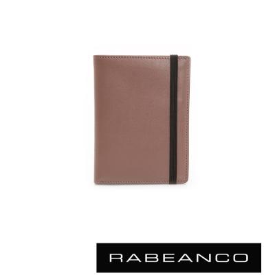 RABEANCO-簡約俐落牛皮多層名片夾-咖