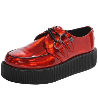 TUK VIVA 輕量金屬虹彩龐克鞋-5CM-紅