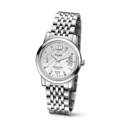 【TITONI 瑞士梅花錶】Airmaster 空中霸王系列-銀白色錶盤不鏽鋼錶帶/40mm(93909 S-342)