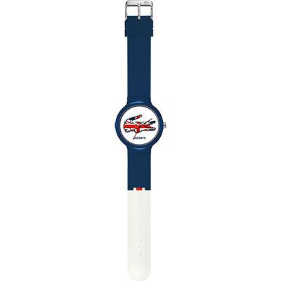 Lacoste 國旗系列世足賽熱血腕錶-英國/40mm