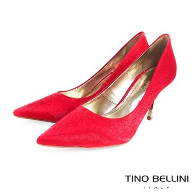Tino-Bellini巴西迷人傾心緞面跟鞋-媚惑紅