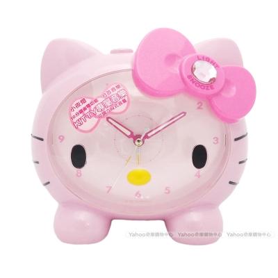 Hello Kitty凱蒂貓可愛臉蛋頭型夜光音樂鬧鐘(甜美粉)JM-E890KT-P