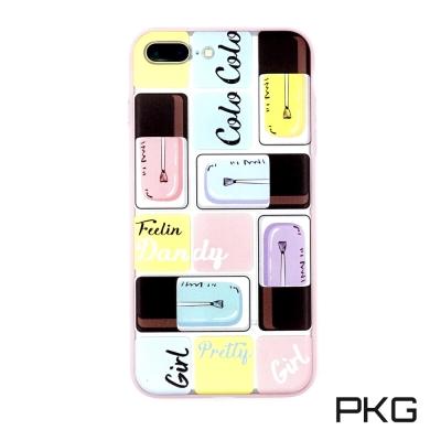 PKG Apple IPhone 7/8 Plus 彩繪空壓氣囊保護殼-浮雕彩繪...