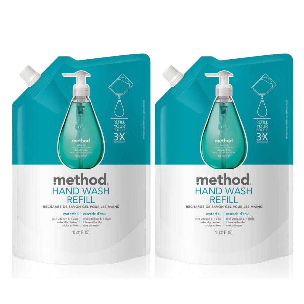 Method美則清泉天然洗手乳(補充包)1000ml x 2包