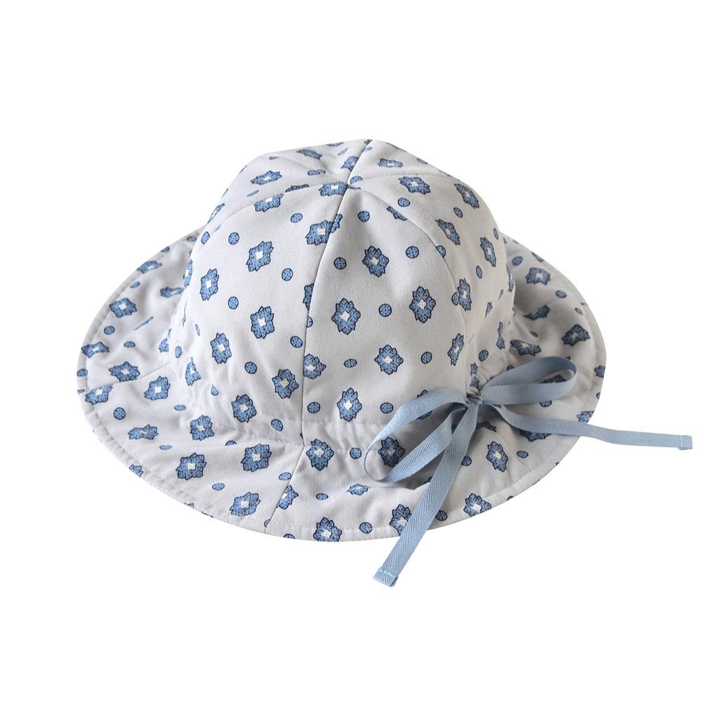 SOULEIADO 芙蓉鬱金香抽繩帽(藍)