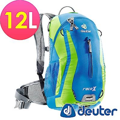 【ATUNAS 歐都納】德國DEUTER自行車背包/運動登山背包32123藍/淺綠