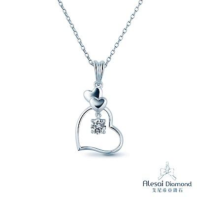 Alesai 艾尼希亞鑽石 50分 F-G成色 愛心鑽石項鍊