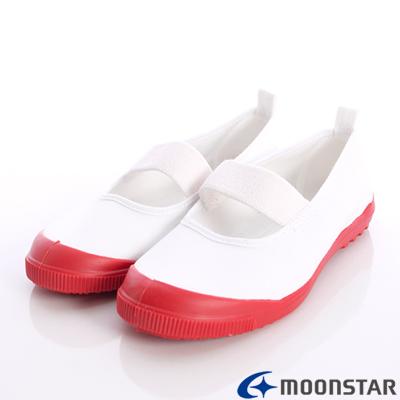 日本月星頂級競速童鞋-日本進口抗菌室內鞋-MS012紅(中大童段)