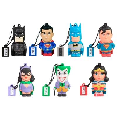 義大利TRIBE - 蝙蝠俠VS超人 8GB 隨身碟7隻組 - 限量收藏組