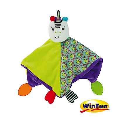 WinFun 小斑馬手偶安撫巾