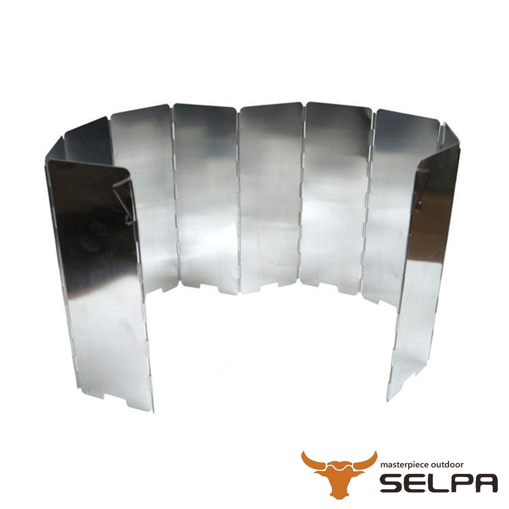 韓國SELPA 十片加高款鋁合金擋風板 銀色