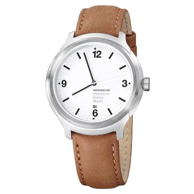 MONDAINE 瑞士國鐵設計系列腕錶-白/43mm